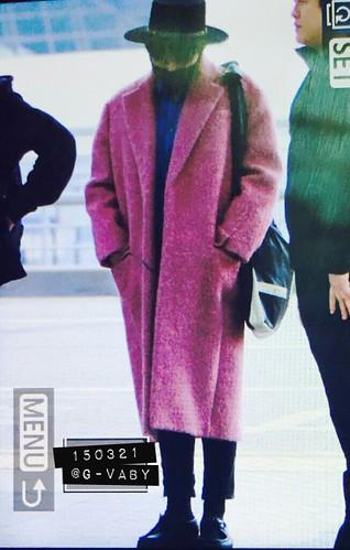 Big Bang - Incheon Airport - 21mar2015 - G-Dragon - G_Vaby - 03