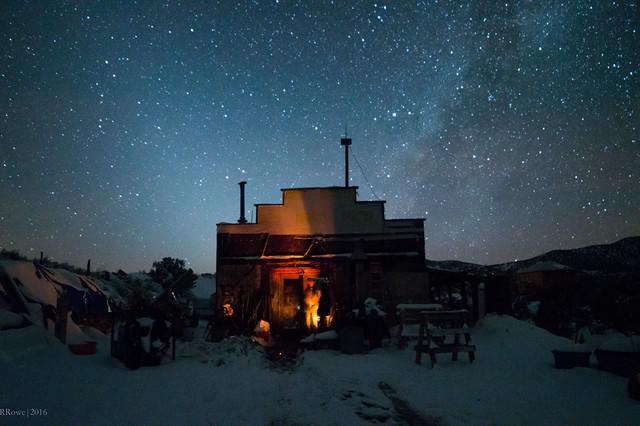 A winter night in White Oaks, NM.