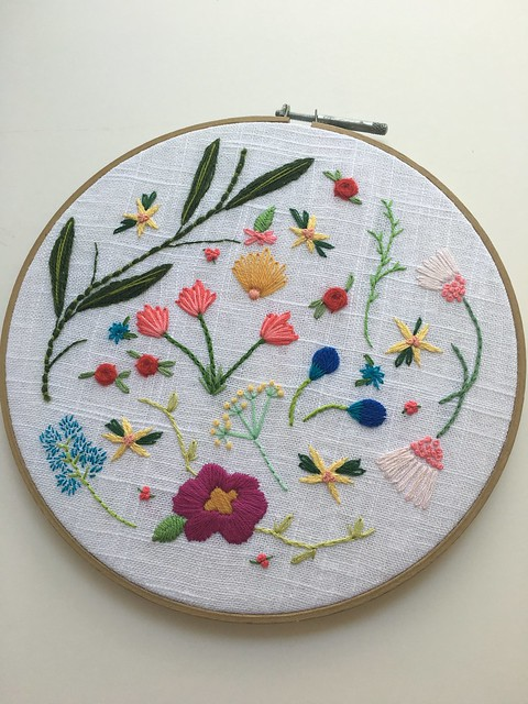 Embroidery: Free Form Flowers – daisyeyes handmade