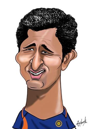 Pragyan Ojha Cartoon