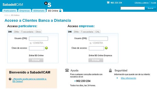 Acceso a BS Online Sabadell CAM