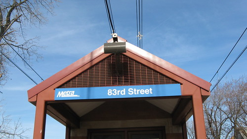 The East 83rd Street Metra commuter rail station.  Chicago Illinois.  Sunday, November 25th, 2012. by Eddie from Chicago