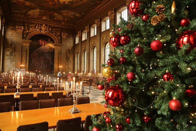 Painted Hall christmas tree