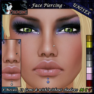 *P* Unisex Face Piercing R1 ~Metals-Gems~