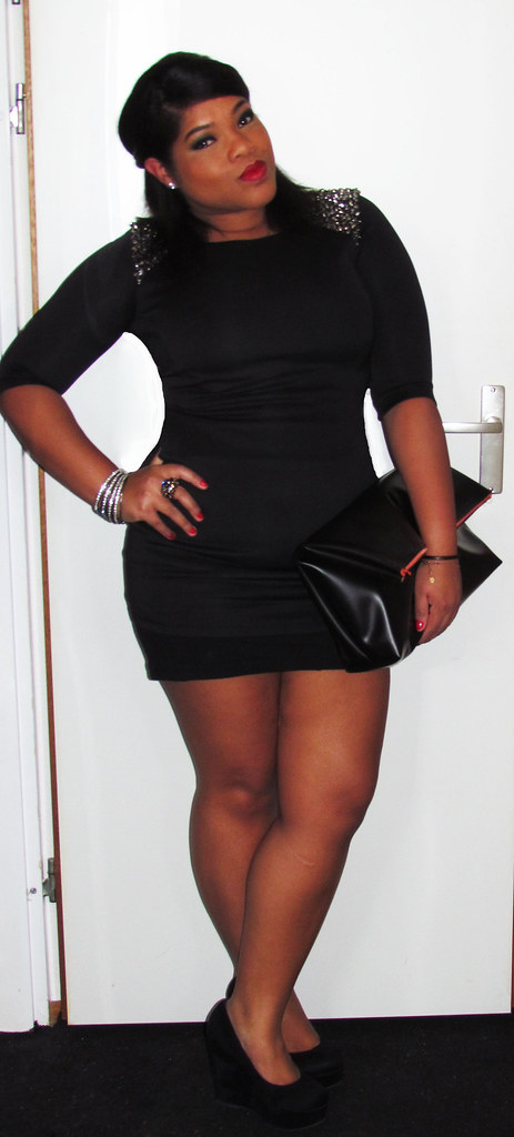 New Look, OOTD, Outfit of the day, DIY, LBD, Little Black Dress, Black Wedges
