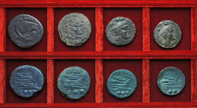 RRC 097 L Luceria bronzes (1) Ahala collection, coins of the Roman Republic