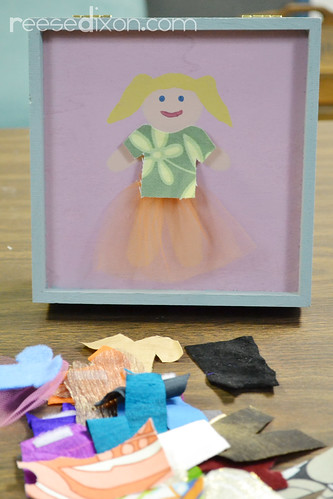 Dress Up Doll Box Tutorial Step 6
