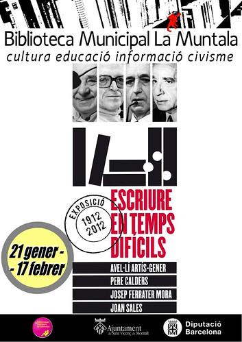 Exposició: Escriure en temps difícils @ 21 gener - 17 febrer by bibliotecalamuntala