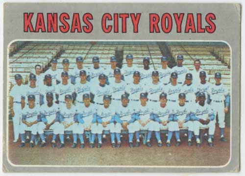 1970 Topps Kansas City Royals Team Card