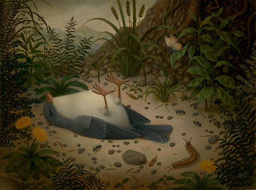 Marion Peck, Dead Bird, Oil on canvas, 2012