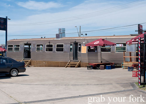 train carriage dining at step-a-side diner cabramatta