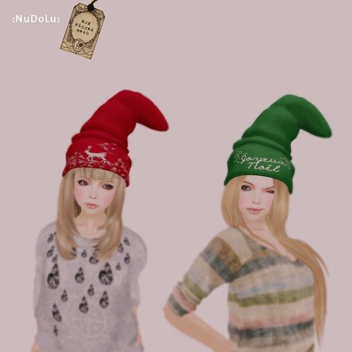 NuDoLu Bonnet de Noel group gift AD