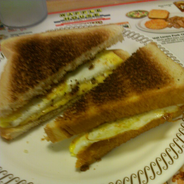 Egg and cheese #sandwich at Waffle House | Flickr - Photo Sharing!