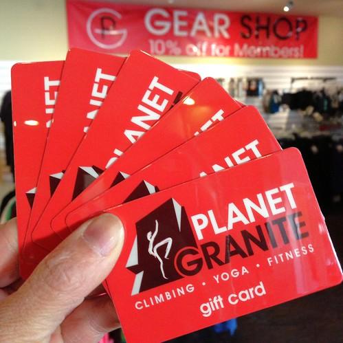 Planet Granite gift cards