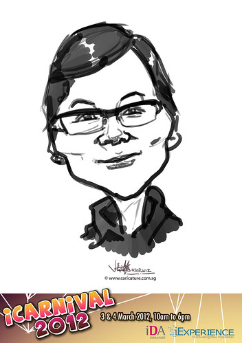 digital live caricature for iCarnival 2012  (IDA) - Day 1 - 78