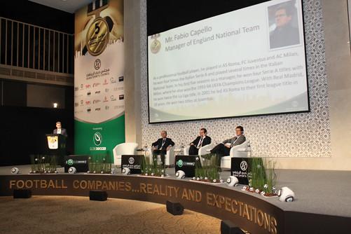 Umberto Gandini, Sandro Rosell and Fabio Capello