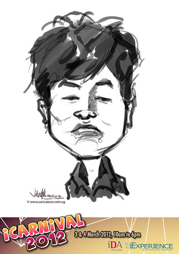 digital live caricature for iCarnival 2012  (IDA) - Day 2 - 8