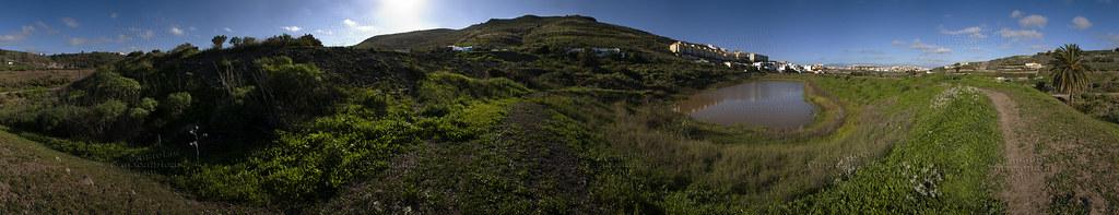 Embalses en San Lorenzo, Las Palmas de Gran Canaria. Isla de Gran Canaria