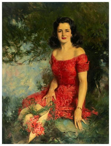 026-Mujer de rojo 1942-Howard Chandler Christy -via tumblr