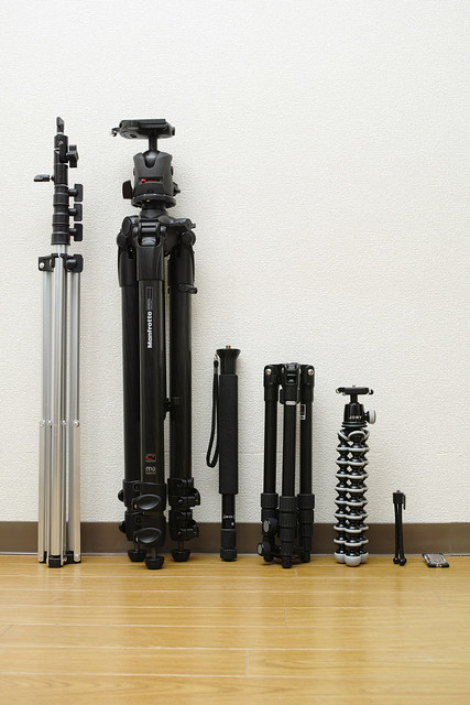 20121222_05_My tripod & monopod & light stand