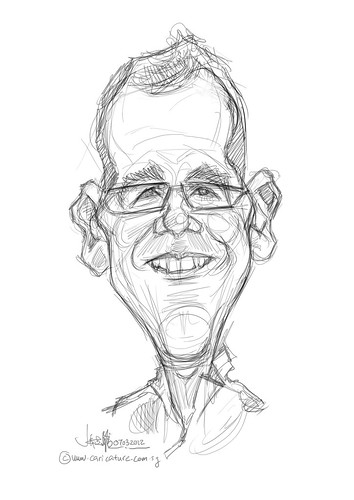 digital caricature for Hewlett Packard - 1