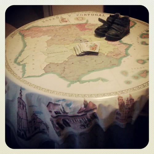 Una, grande y libre. #spain #map #table #mesa #mesacamilla #mapa