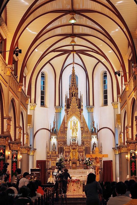 2012平安夜。高雄  ,天母玫瑰教堂、塩埕基督教會
