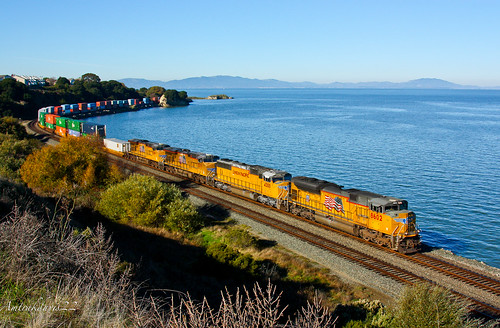 railroad shoreline trains unionpacific freighttrain sanpablobay intermodal calp stacktrain sd70ace pinolecalifornia koamn upmartinezsubdivision