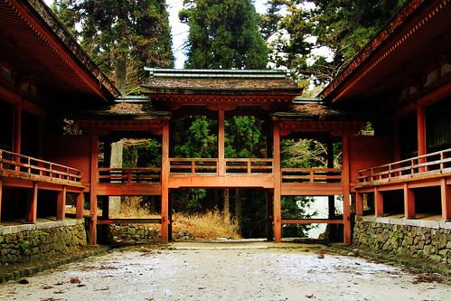 El templo rojo de Hieizan