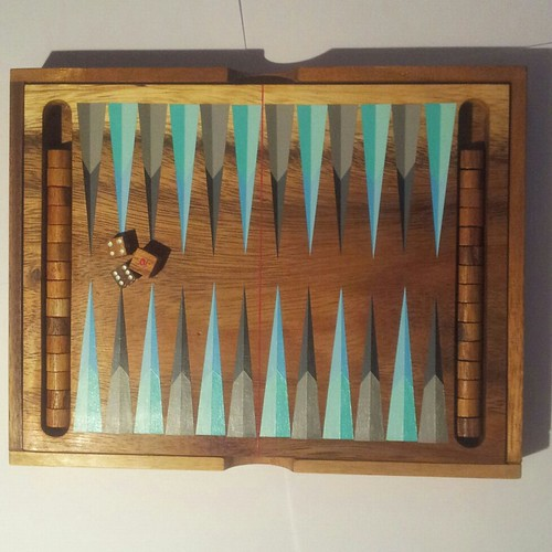 Custom Backgammon board by Carl Cashman