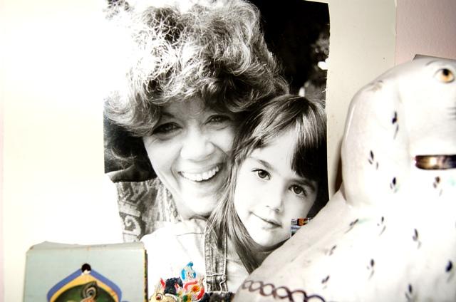 mum and me mantelpiece