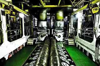 Cargo ship engine