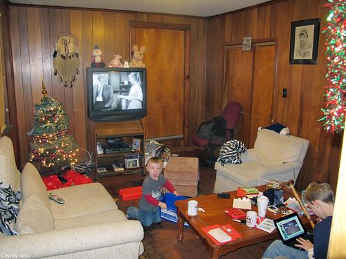 Grand-nephews on Christmas by Coyoty
