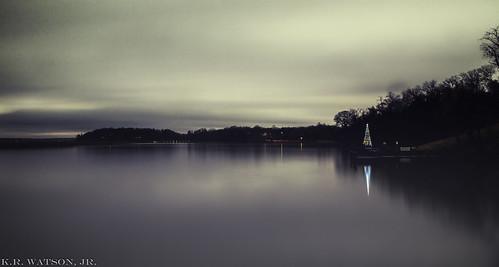 christmas longexposure sunset tree clouds river lights patuxent patuxentriver
