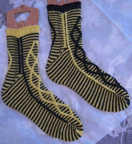 Crosswired Hufflepuff socks