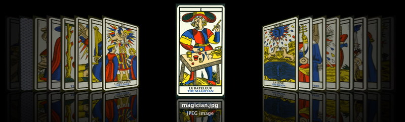 Marseilles Tarot cards, used for Card Storytelling System