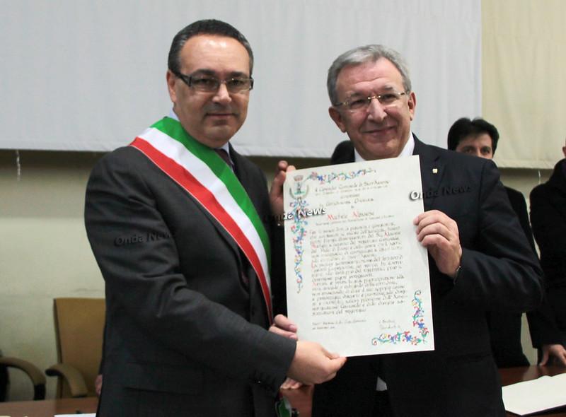 Sant'Arsenio: Emozioni a iosa al conferimento della cittadinanza onoraria a Michele Albanese