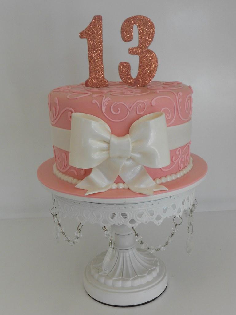 Sparkly Pink Birthday Cake 1486
