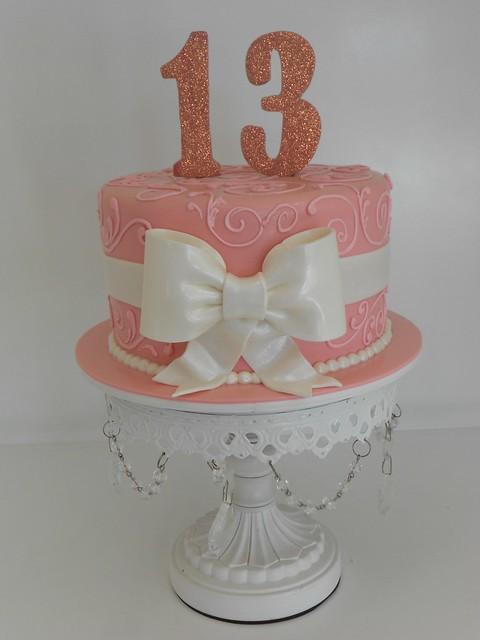 Sparkly pink birthday cake (1486) | www.asweetdesign.info ...