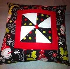 Snowman Pinwheel Pillow