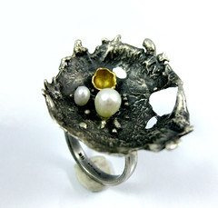 artbywinona posted a photo:	Sterling silver, freshwater pearls, 14k gold