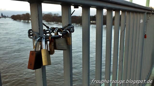 Liebesschlösser an der Rodenkirchener Brücke