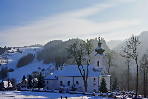 mountains church landscape poland polska winer zima pieniny jaworki jurekp sonya500