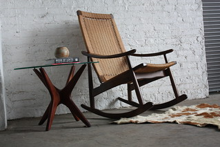 Regal Mid Century Danish Modern Woven Rope Rocker (1960's)