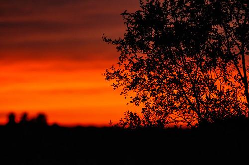 county sunset red orange iowa mahaska