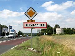 Flixecourt (panneau entrée et moulin) 1 - Photo of Gorenflos