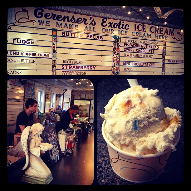 Birthday cake ice cream at Gerenser's in New Hope PA