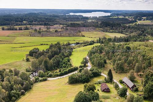 sverige swe västragötaland hestra flygfoto arvidstorp
