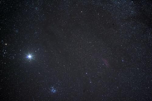 昴とカルフォニア星雲と木星とか