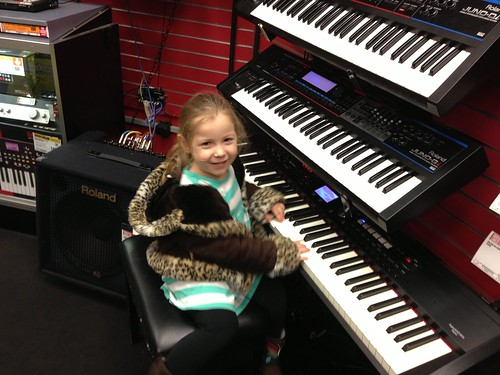 Cheyenne at Guitar Center